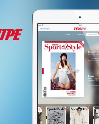 Application iPad L'Équipe